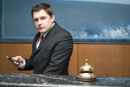 Hotel receptionist photo
