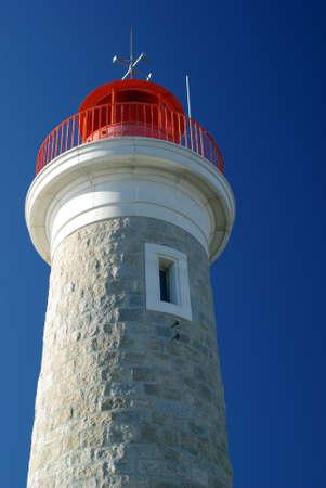 leading light: Lighthouse of Saint Tropez, France Stock Photo