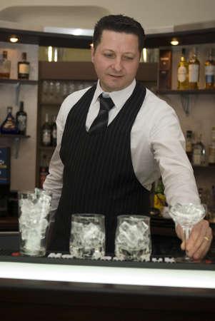 bartender: Barman Stock Photo