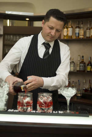staff only: Barman Stock Photo
