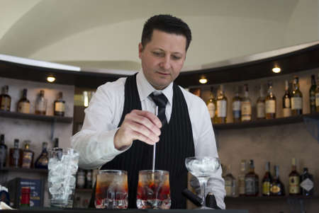Barman Foto de archivo