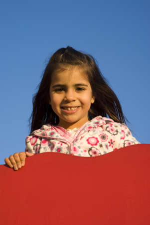 Little girl at playground Stock Photo - 9411268