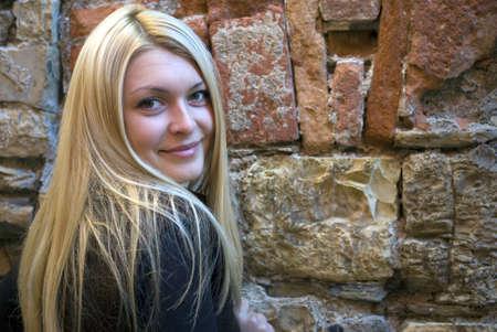 egy fiatal nő csak a: Portré fiatal nő