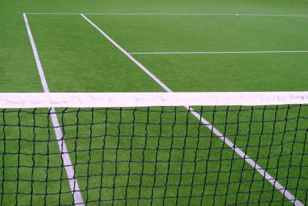 Canchas de tenis y club de tenis Resort Foto de archivo