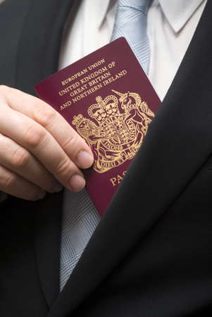 british man: British passport