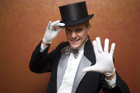 Magician performing photo