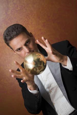 Magician's magic trick 스톡 콘텐츠