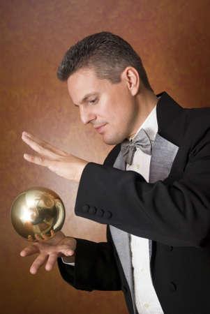 truc: Goocheltruc Magician's Stockfoto