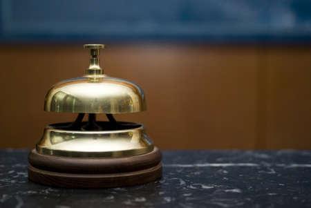 hotel reception: Hotelservice Glocke Lizenzfreie Bilder