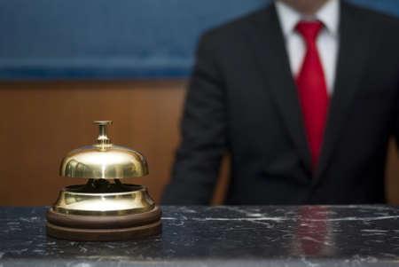 gastfreundschaft: Hotelservice Glocke Lizenzfreie Bilder