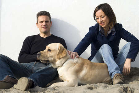 Couple with dog Stock Photo - 11558330