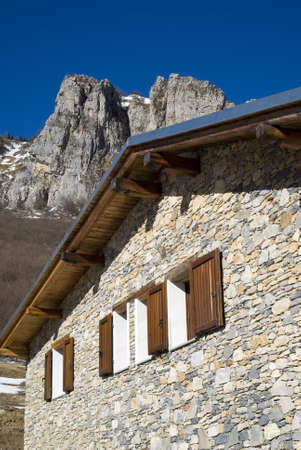 refuge: The mountain hut in the Alps