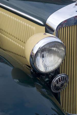Vintage car headlight photo