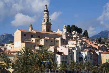 azure coast: Menton  Tourist destination on the Azure coast in France