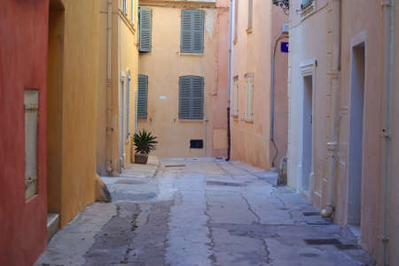 Streets of Saint Tropez Stock Photo - 12937527