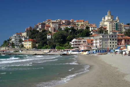 Ciudad de Imperia, Liguria, Italia Foto de archivo