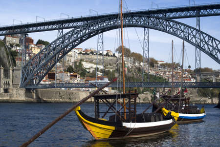 View of the Dom Luis I bridge, Porto photo