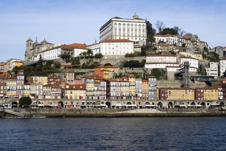 View over Ribeira - the old town of Porto, Portugal photo