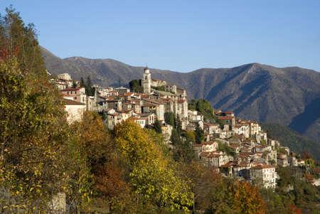 Triora  Ancient village of Italy 스톡 콘텐츠