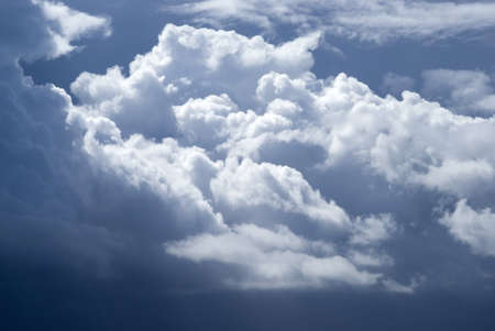 cumulus: Overcast sky with dark storm clouds Stock Photo