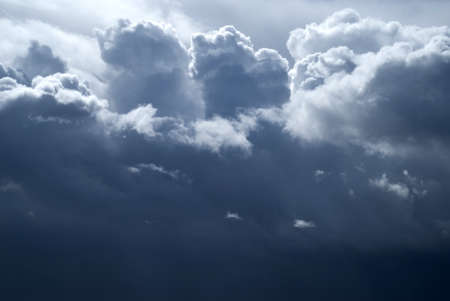 power: Overcast sky with dark storm clouds Stock Photo