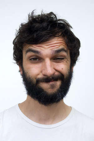 bärtiger mann: Portr�t der Mann mit dem Bart Lizenzfreie Bilder