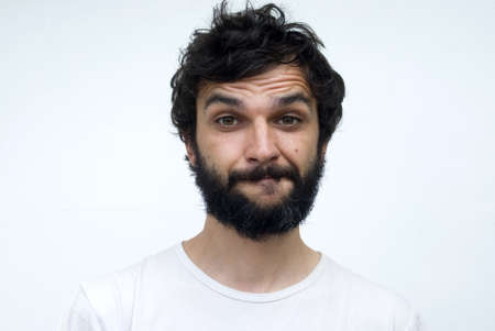 hombre con barba: Retrato de hombre con barba