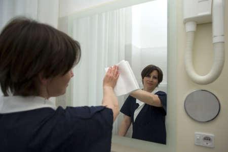 Maid at work 스톡 콘텐츠