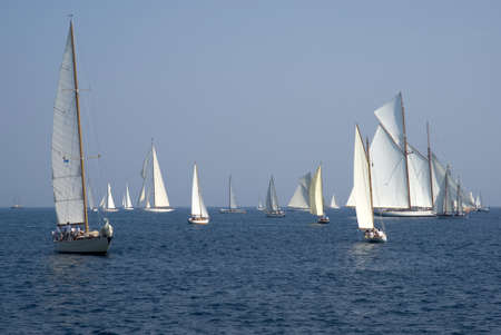 Classic yacht regatta photo