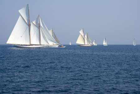 sailing crew: Classic yacht regatta