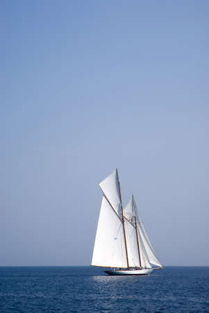 Sailboat on sea photo