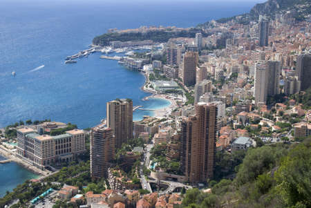 principality: Panoramic view of Principality of Monaco Stock Photo