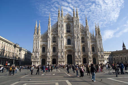 Gothic cathedral of the city of Milan