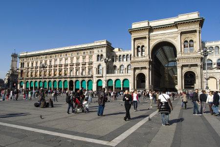 vittorio emanuele: Milan, Vittorio Emanuele II gallery Editorial