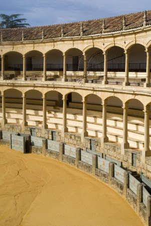 ronda: Bullring in Ronda, Andalusia, Spain Editorial