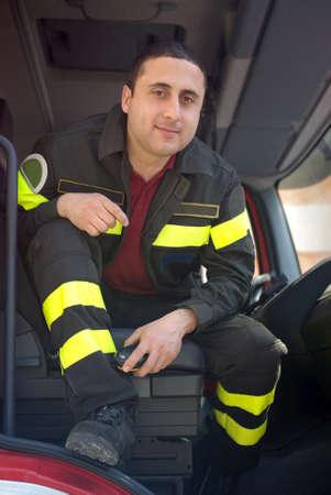 Italian fireman photo