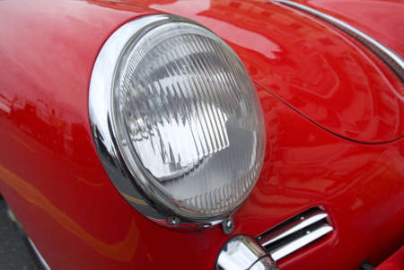 Vintage car headlight photo