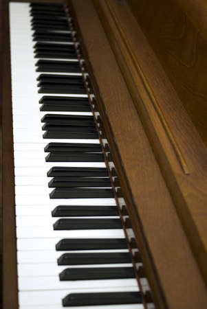 Diagonal view of piano keys photo