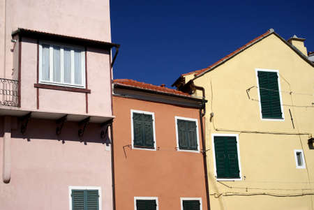 characteristic: Colors of Mediterranean architecture Stock Photo