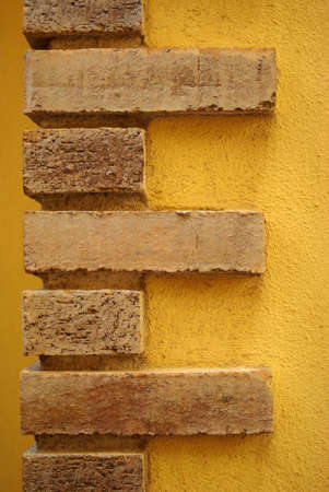 Closeup of a decorative bricked wall photo