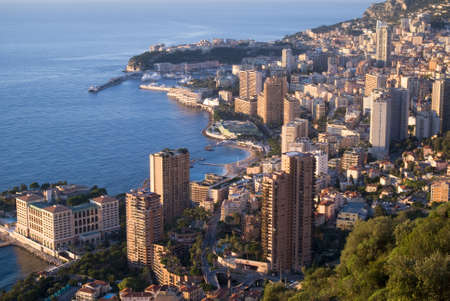Monaco in the sunrise light  photo