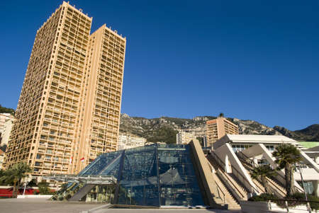 Monte Carlo skyscrapers and the Grimaldi Forum Stock Photo - 16820828