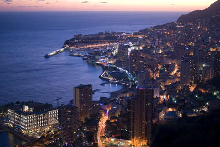 monaco: Enchanting Monegasque dusk Stock Photo