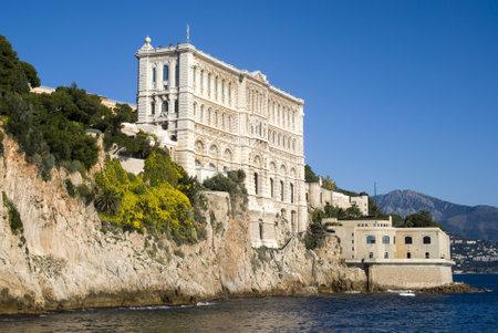 oceanographic: Principality of Monaco – December 9, 2012: Side of Oceanographic Institute