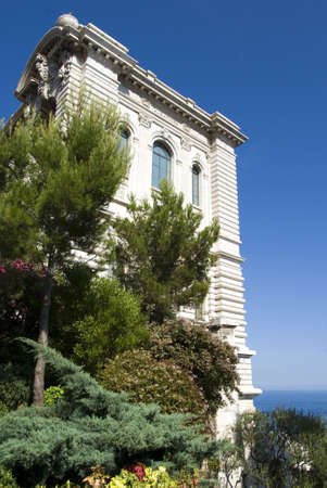 oceanographic: Principality of Monaco � August 7, 2012: Side of Oceanographic Institute