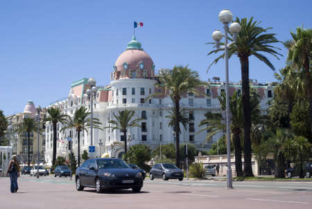 Nice, France – July 18, 2011: The Hotel Negresco on the Promenade des Anglais