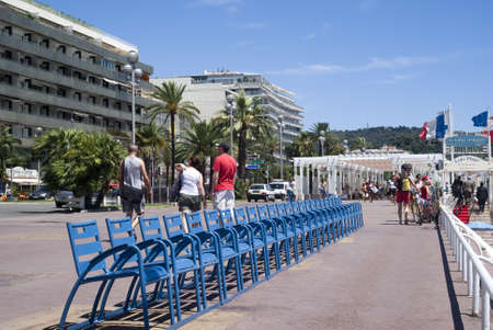 Nice, France – July 18, 2011:  Promenade of the English