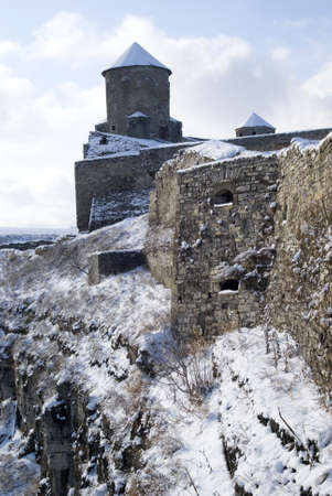 Kamyanets-Podilsky, Ukraine � January 15, 2012:  The medieval fortress Stock Photo - 17227985