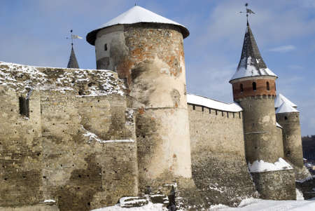 Kamyanets-Podilsky, Ukraine � January 15, 2012:  The medieval fortress