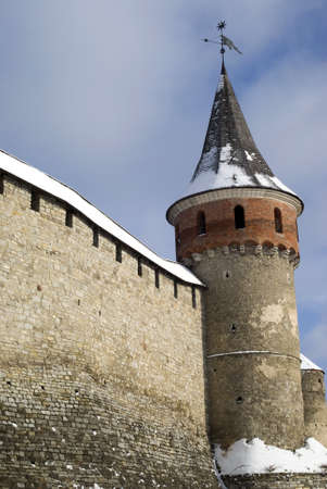 castle district: Kamyanets-Podilsky, Ukraine � January 15, 2012:  The medieval fortress Editorial